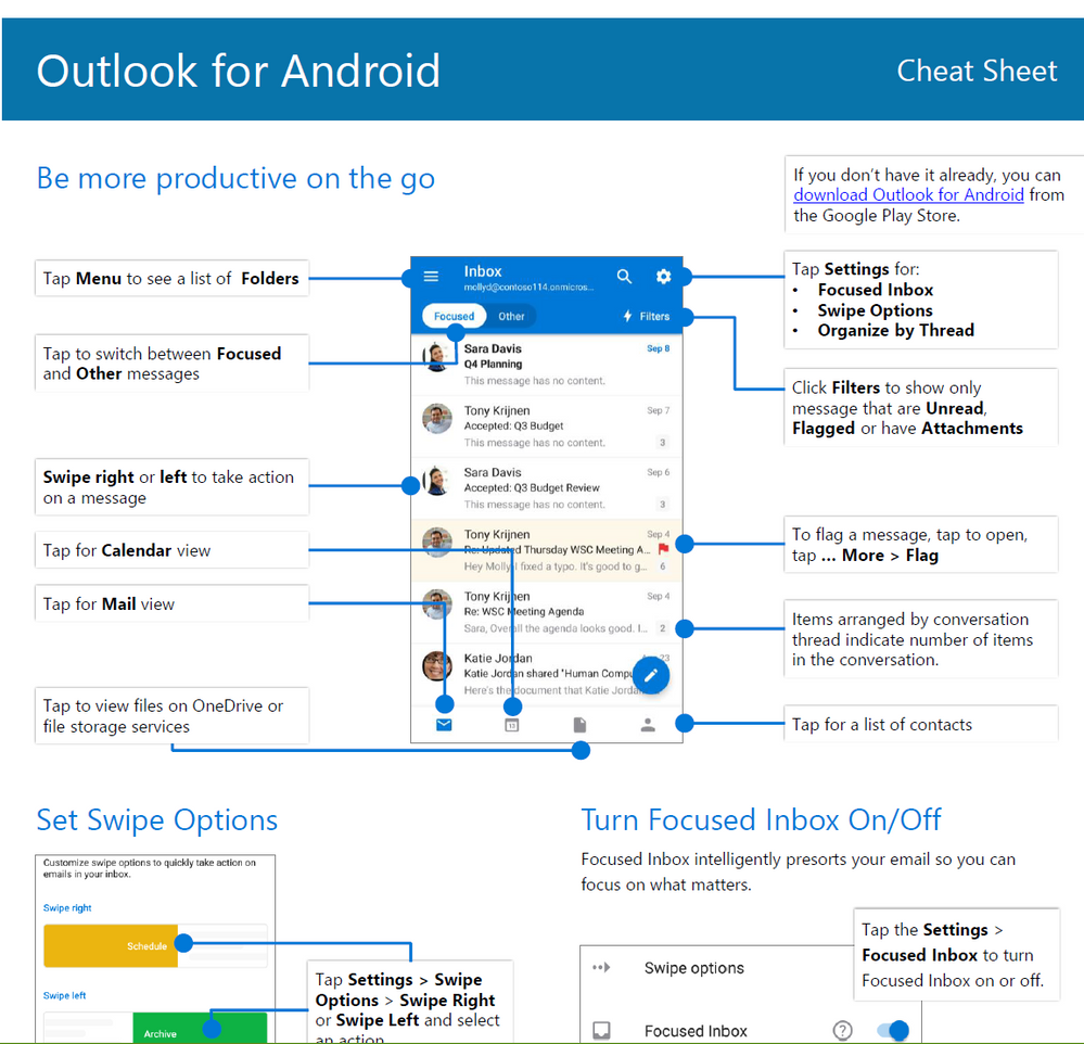 outlook cheat sheet pdfs available to download in 37